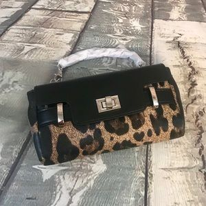 Handbags - Cheetah Clutch With Silver Metal Accents